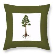 Archaeopteris Sp Tree Throw Pillow