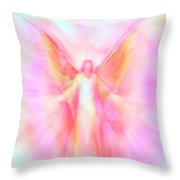 Archangel Metatron Reaching Out In Compassion Throw Pillow