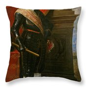 Archduke Leopold Wilhelm With The Siege Of Gravelingen Throw Pillow