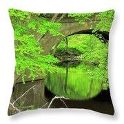 Arched Bridge Throw Pillow