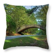 Arched Bridge Overpass  Throw Pillow