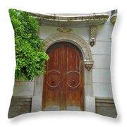 Arched Door Cadiz Throw Pillow