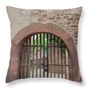 Arched Gate At Heidelberg Castle Throw Pillow