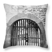 Arched Gate B W Throw Pillow