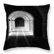 Arched Hallway In Palma Throw Pillow