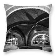 Arched In Black And White Throw Pillow