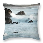 Arched Rock Wave Break Throw Pillow