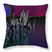 archeological Station on ERIDANUS  Beta Throw Pillow