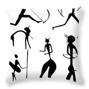 Archer And Other Figures Throw Pillow