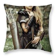 Archer Warrior Throw Pillow