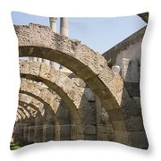 Arches And Columns Throw Pillow