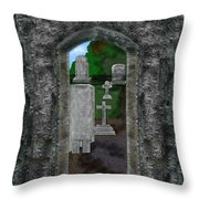 Arches And Cross In Ireland Throw Pillow