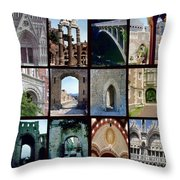 Arches Collage Throw Pillow
