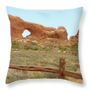 Arches Formation 35 Throw Pillow