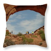 Arches Formation 38 Throw Pillow