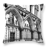 Arches Front Of The Royal Courts Of Justice London Throw Pillow