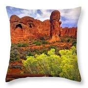 Arches Landsape 2 Throw Pillow