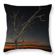 Arches Lone Tree At Dusk Throw Pillow