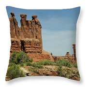 Arches National Park 3 Throw Pillow