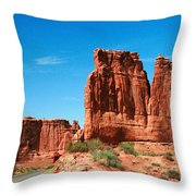 Arches National Park From A Utah Highway Throw Pillow