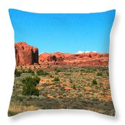 Arches National Park In Moab, Utah Throw Pillow