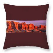 Arches National Park Pano One Throw Pillow