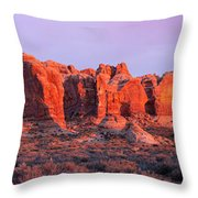 Arches National Park Pano Two Throw Pillow