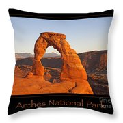 Arches National Park Poster Throw Pillow