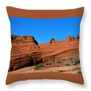 Arches National Park, Utah Usa - Delicate Arch Throw Pillow