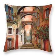 Archetti In Rosso Throw Pillow by Guido Borelli