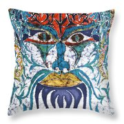 Archetypal Mask Throw Pillow