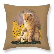 Archibald And Friend Throw Pillow