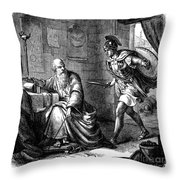 Archimedes (c287-212 B.c.) Throw Pillow