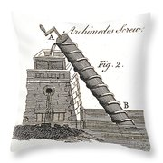 Archimedes Screw, 1769 Throw Pillow