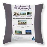 Architectural 3d Flythrough Throw Pillow