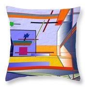 Architectural Abstract 2 Throw Pillow