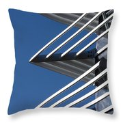 Architectural Detail Of Triangles Throw Pillow