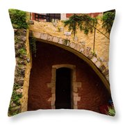 Architectural Details In Chania Throw Pillow