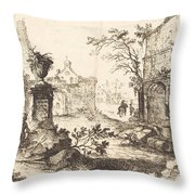 Architectural Fantasy With Roman Ruins Throw Pillow
