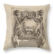 Architectural Motif With A Landscape Throw Pillow