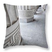 Architectural Pillars Throw Pillow