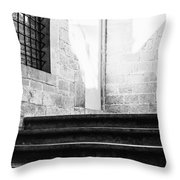 Architectural Stone Stairs Throw Pillow