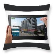 Architectural Virtual Reality Throw Pillow