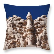 Architecture At The Lensic Theater In Santa Fe Throw Pillow