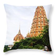 architecture at Wat Tham Sua Throw Pillow