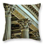 Architecture Columns Palace King Louis Xiv Versailles  Throw Pillow