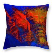 Architecture Detail  Amber Fort Palace India Rajasthan Jaipur Abstract Square 1a Throw Pillow