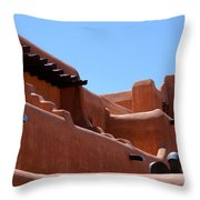 Architecture In Santa Fe Throw Pillow