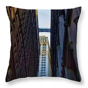 Architecture New York City The Crossing  Throw Pillow
