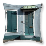 Architecture Of The French Quarter In New Orleans Throw Pillow